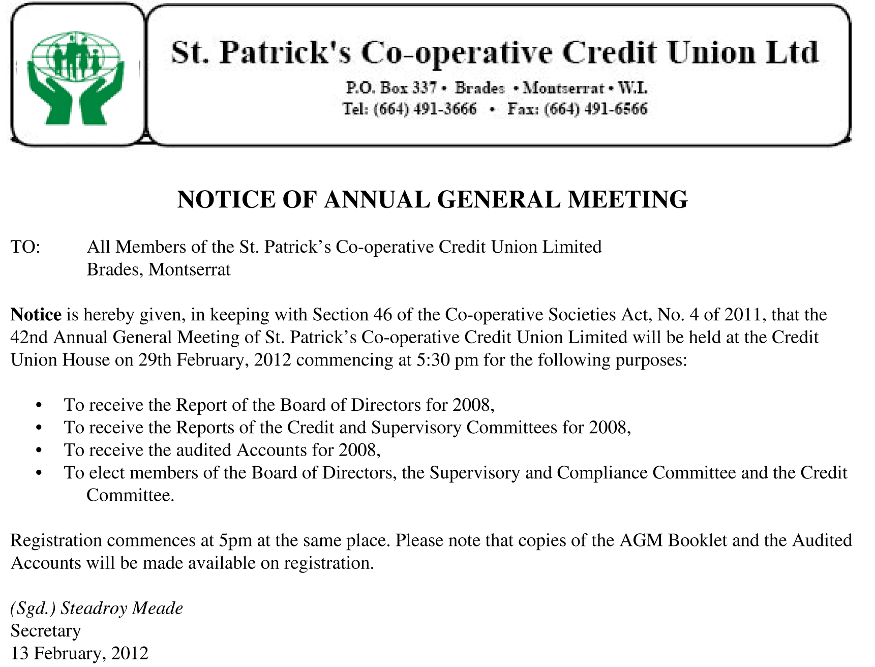 St. Patrick's Co-operative Credit Union Limited Annual ...