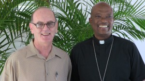 Fr. George Agger and Bishop Kenneth Richards