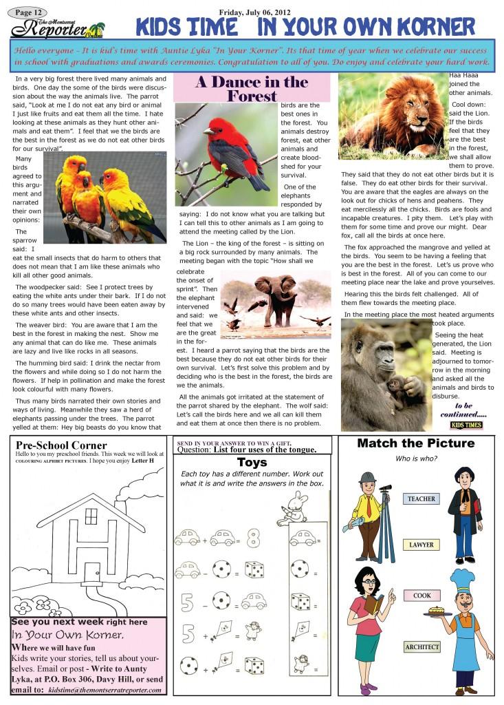 Kids Corner pages