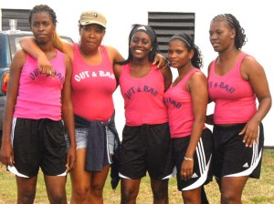 Out n Bad girls team took 3rd spot