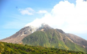 view of volcano, hopefully in repose, March 2013