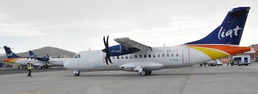 LIAT's latest ATR-42 aircraft