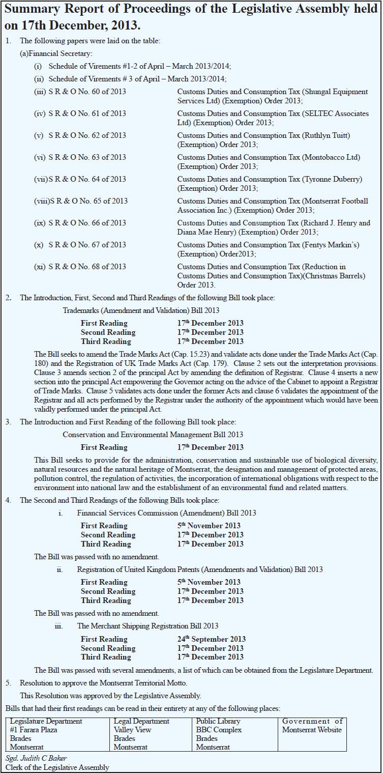 Summary Report - legass dec 17 13