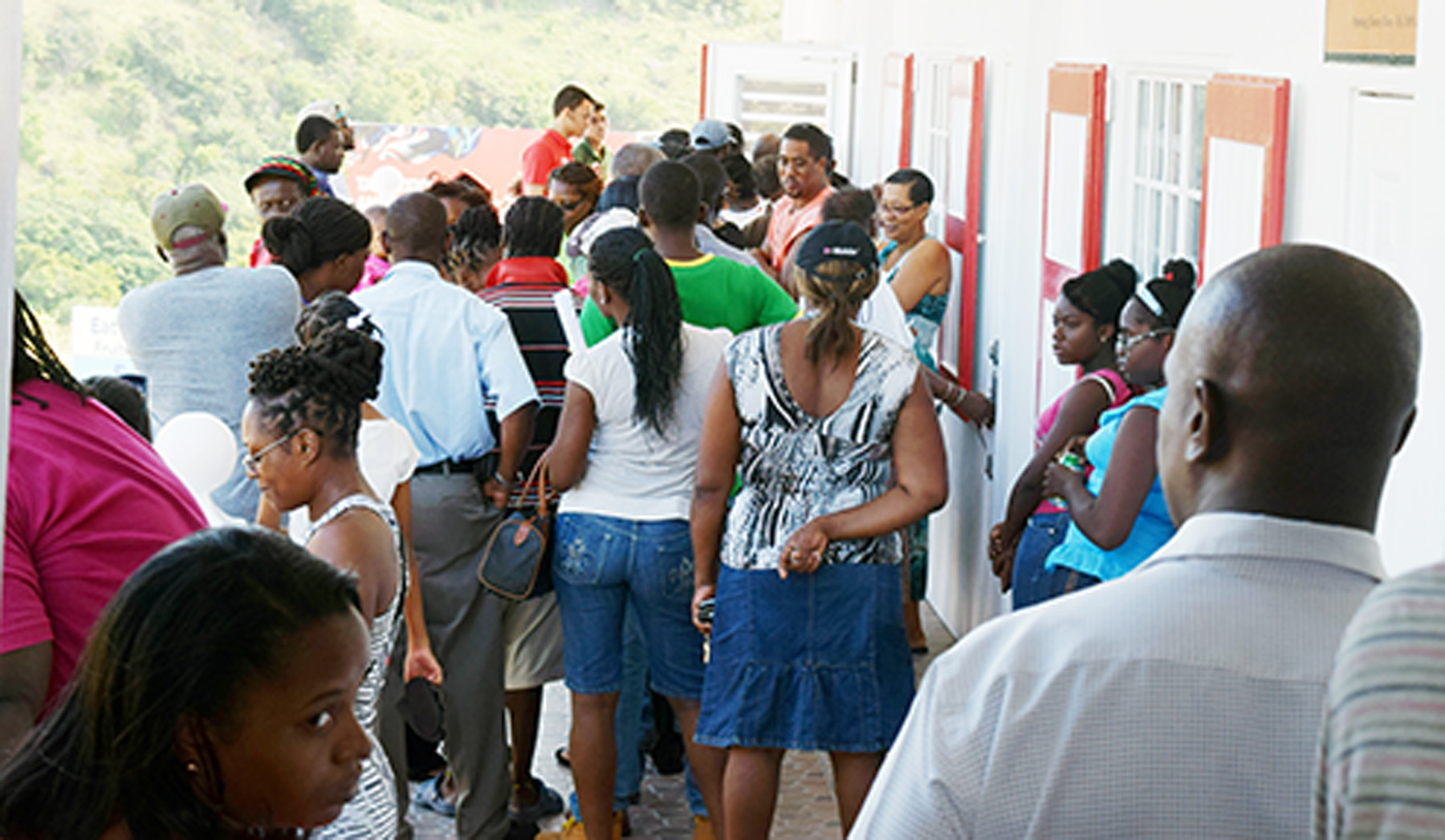 The first Digicel customers in Montserrat