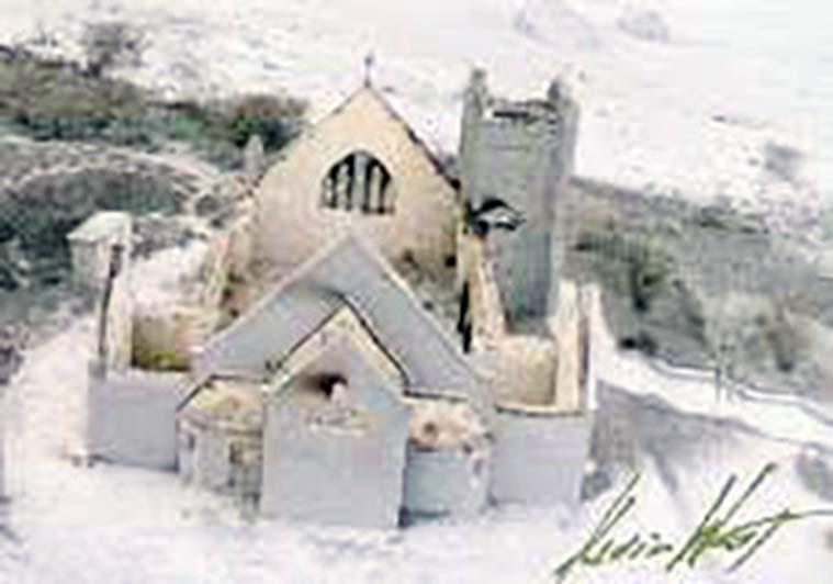 Bethel Methodist Church - demolished by the June 25 pyroclastic flow