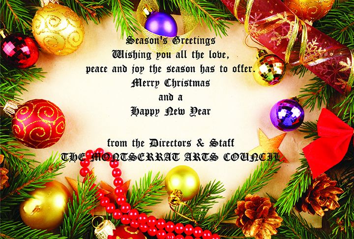 Christmas greetings 2015 the montserrat reporter arts council m4hsunfo