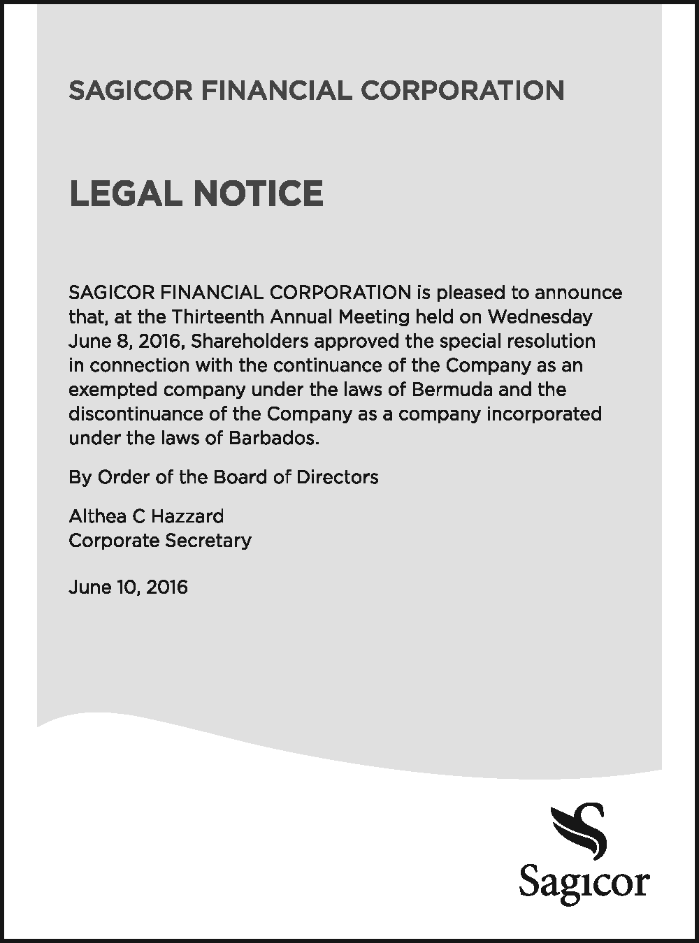 Sagicor-140616-Legal Notice-The Reporter-6.75x5in-MONTSERRAT-Final