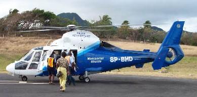 Montserrat - helicopter