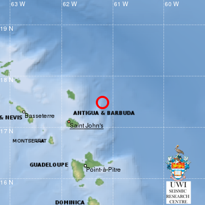 Leeward Islands jolted by strong tremor