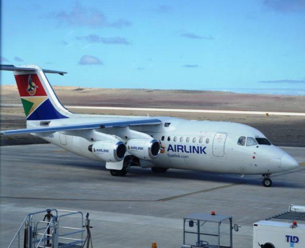 St. Helena first passenger flight landing