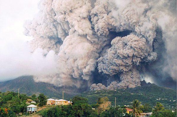 Montserrat volcanic eruption - June, 25, 1997