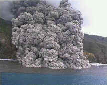 Pyroclastic flows down Tar River and out to sea - prior to June 25
