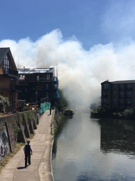 Bow Wharf fire: Blaze rips through new multi-million pound development in trendy east London