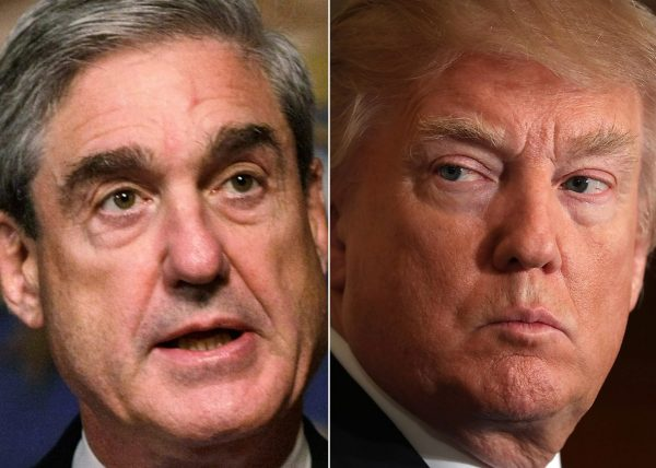 Robert Mueller and President Donald Trump.