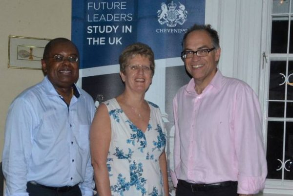 Dr Jimmy Fletcher, British High Commissioner Janet Douglas, Steve O'Malley UNDP