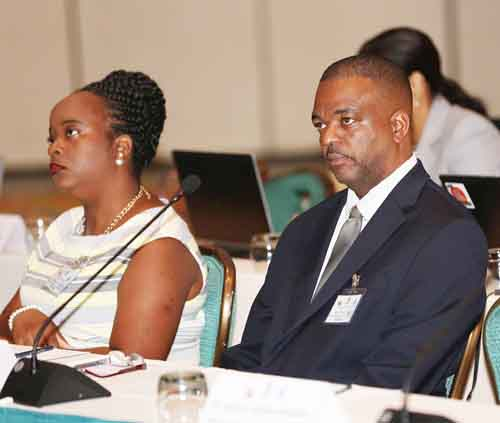 Minister Lewis and Michelle Cassell at 16th Caribbean Ministerial Strategic ICT Seminar - Copy