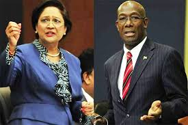Opposition Leader Kamla Persad Bissessar and Prime Minister Dr. Keith Rowley