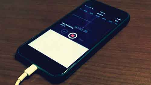 Smart phones can be used for recording.