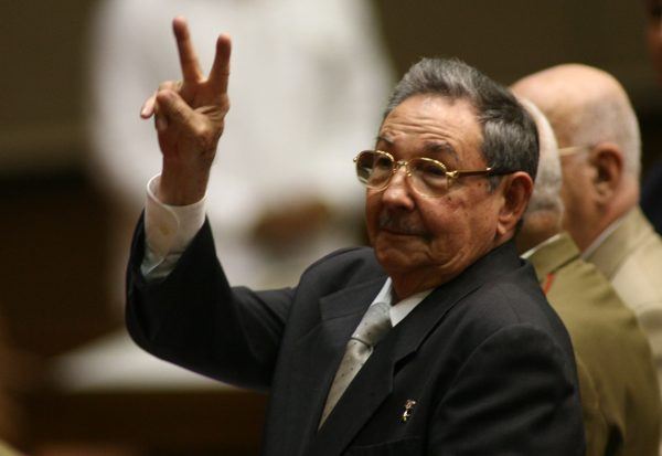 Raul Castro, who has been running Cuba since his brother Fidel was sidelined by illness 19 months ago, gestures during a meeting of the National Assembly in Havana Feruary 24, 2008. Cuba's National Assembly met on Sunday to name a successor to Fidel Castro  REUTERS/Prensa Latina/Pool   (CUBA) - RTR1XJEQ