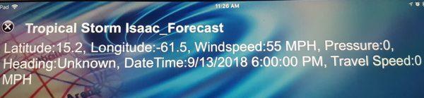 Isaac forecast 2015-09-13 (THURSDAY) at 2.00 PM