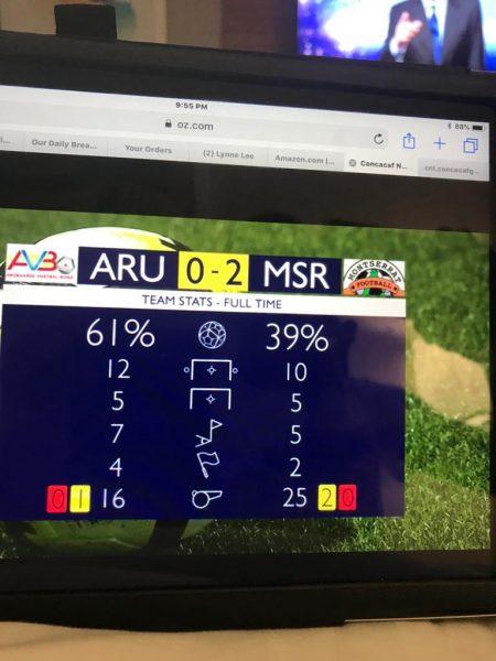 Montserrat beats Aruba 2-0
