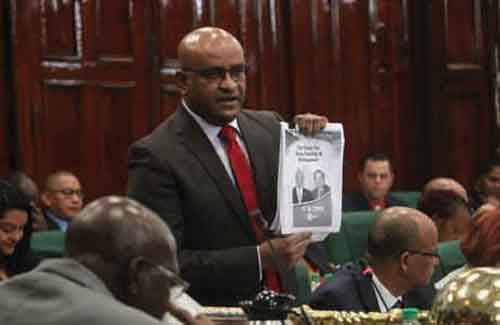 Bharrat Jagdeo successfully piloting motion of no confidence in government
