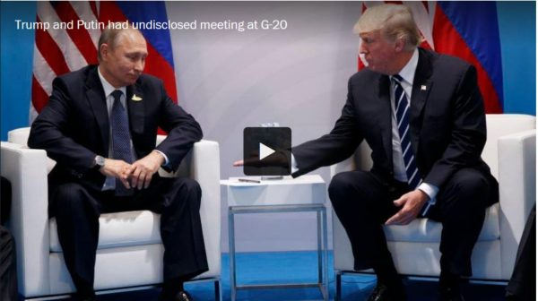 Putin and Trump meet as if for the first time mmm
