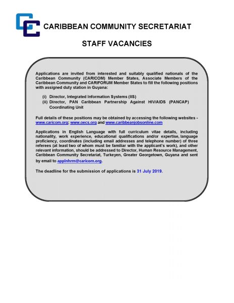 Newspaper Ad - Director, IIS Director, PANCAP