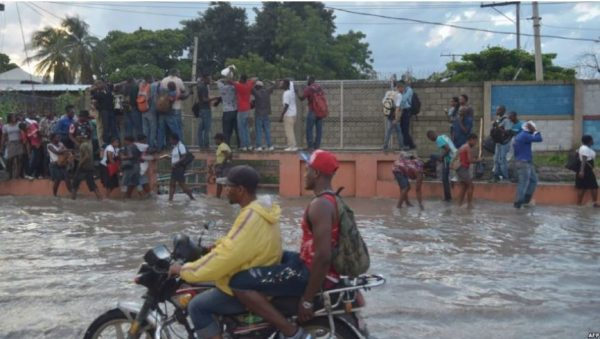 torrential downpour in Haiti