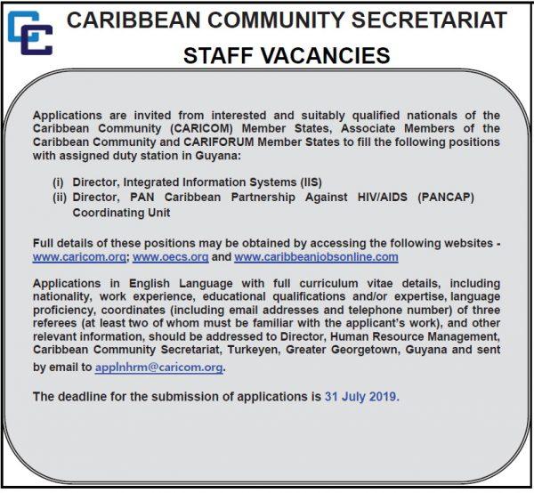 CARICOM Secretariat Vacancy1