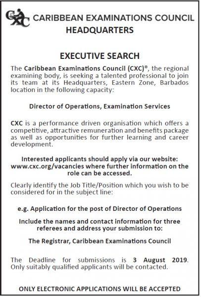 CXC Vacancy