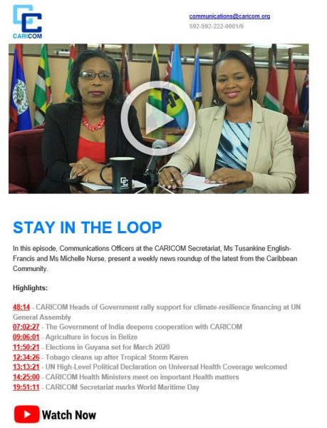 Caricom Invites Stay in the Loop