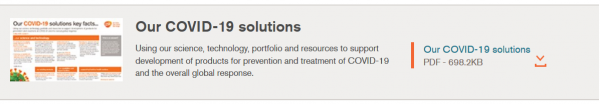 GSK actions to support the global response to COVID-19