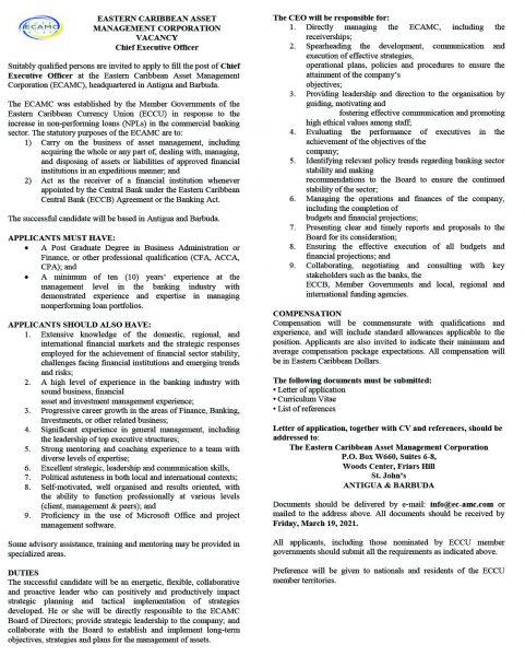 ECAMC-Chief-Executive-Officer-Advert-2web