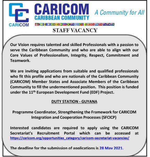 CARICOM-Vacancy